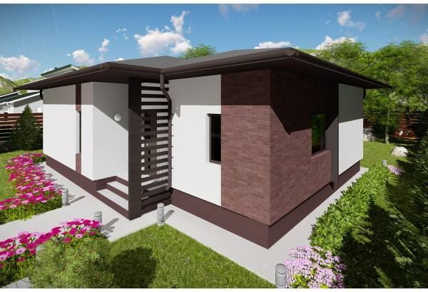 Proiect casa pe structura metalica 111-044
