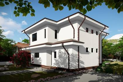 Proiect casa pe structura metalica 260-006