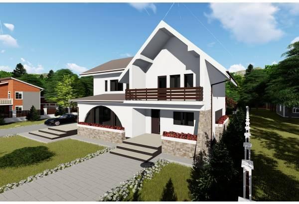 Proiect casa pe structura metalica 310-064