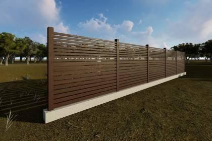 Constructie gard din beton si lemn GA10