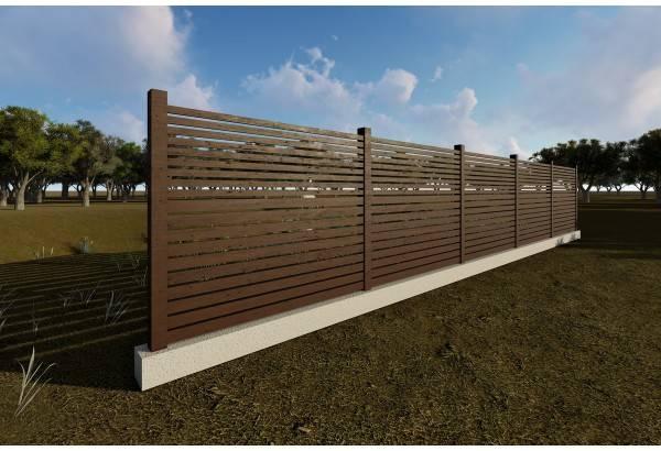 Gard din beton si lemn model GA10