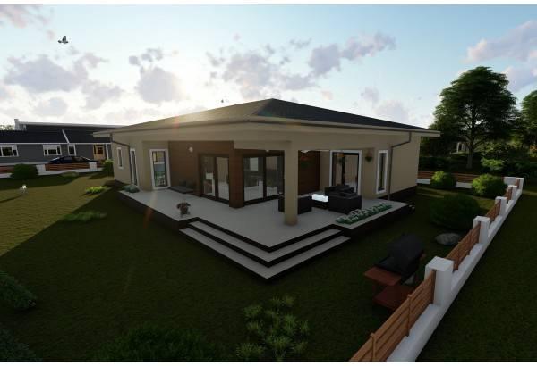 Proiect casa pe structura metalica 269-047