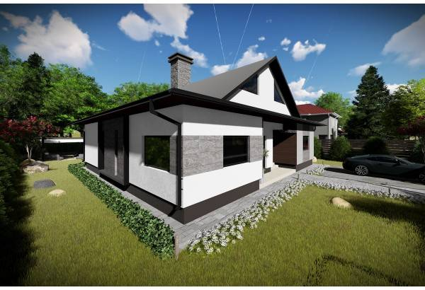 Proiect casa pe structura metalica 249-048