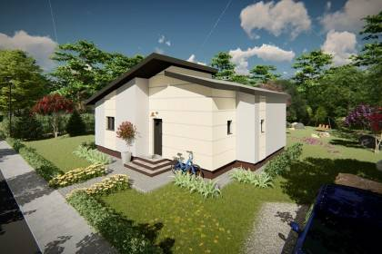 Proiect casa pe structura metalica 108-049