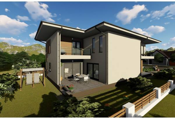 Proiect casa pe structura metalica 303-051
