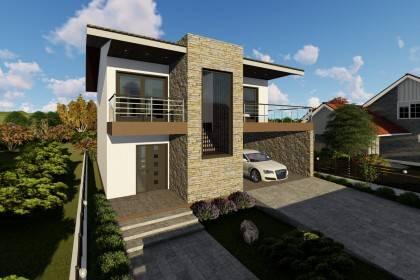 Proiect casa pe structura metalica 265-052