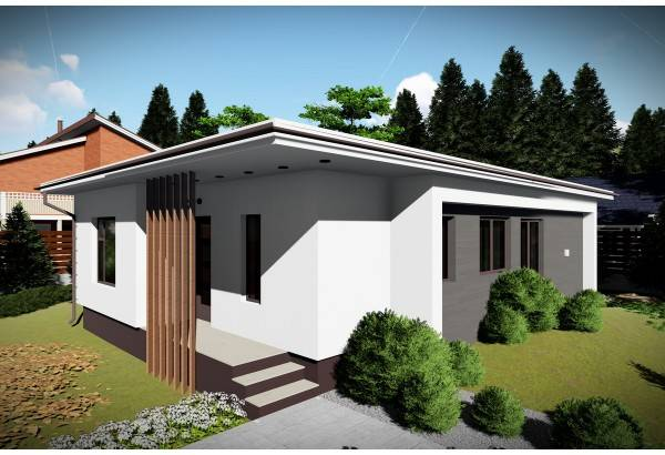 Proiect casa pe structura metalica 088-073