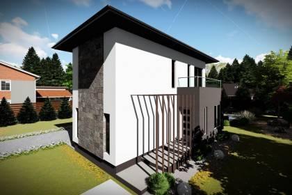 Proiect casa pe structura metalica 139-074