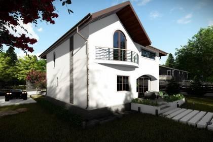 Proiect casa pe structura metalica 207-054