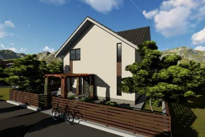 Proiect casa pe structura metalica 180-070