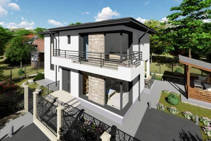 Proiect casa pe structura metalica 190-080