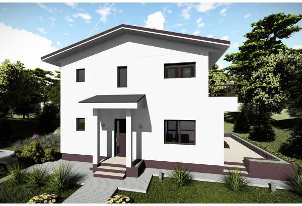 Proiect casa pe structura metalica 138-026