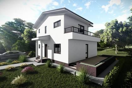 Proiect casa pe structura metalica 181-026