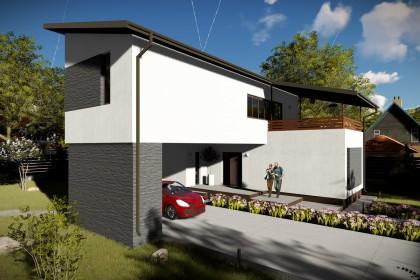 Proiect casa pe structura metalica 164-053