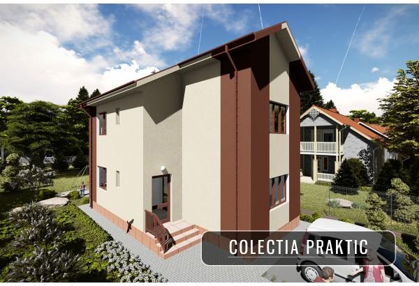 Proiect casa pe structura metalica 130-088