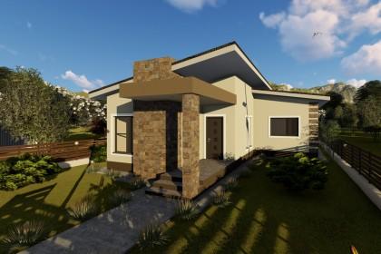 Proiect casa pe structura metalica 165-056