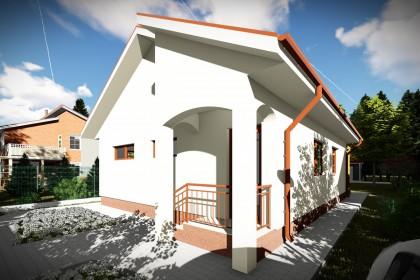 Proiect casa pe structura metalica 112-090