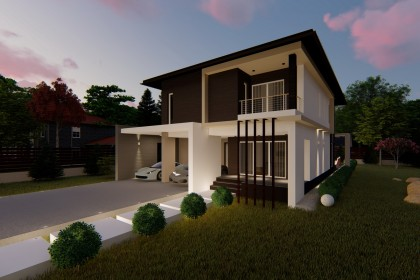 Proiect casa pe structura metalica 258-061