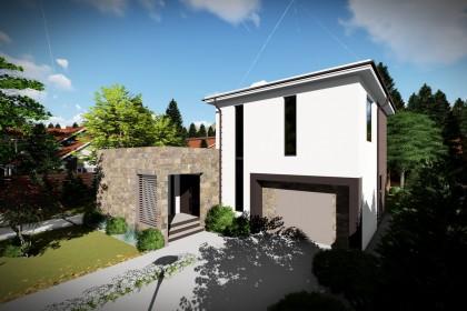 Proiect casa pe structura metalica 207-069