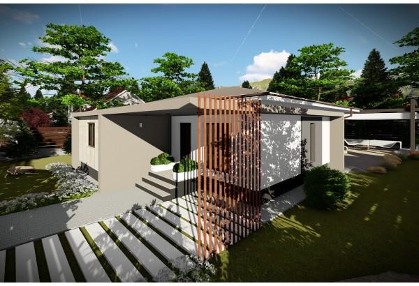 Proiect casa pe structura metalica 104-068