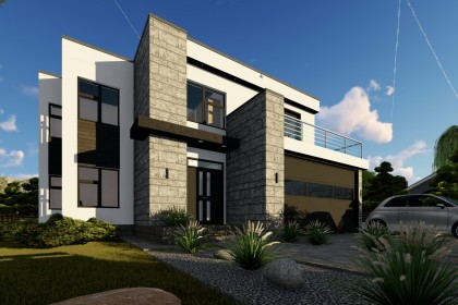 Proiect casa pe structura metalica 334-062