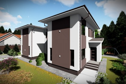 Proiect casa pe structura metalica 244-077