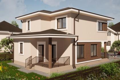 Proiect casa pe structura metalica 186-091