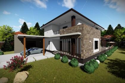 Proiect casa pe structura metalica 340-060