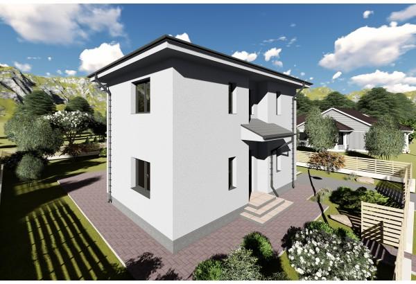 Proiect casa pe structura metalica 162-092