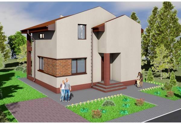 Proiect casa pe structura metalica 141-001