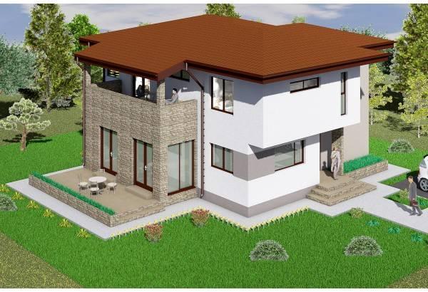 Proiect casa pe structura metalica 241-003
