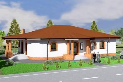 Proiect casa pe structura metalica 238-004