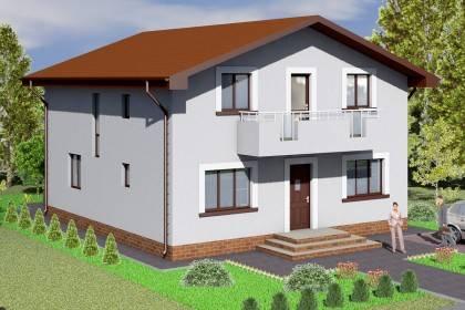 Proiect casa pe structura metalica 235-005