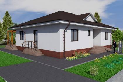 Proiect casa pe structura metalica 161-008