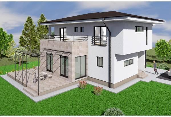 Proiect casa pe structura metalica 250-009