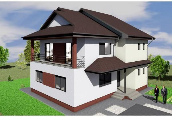 Proiect casa pe structura metalica 238-010