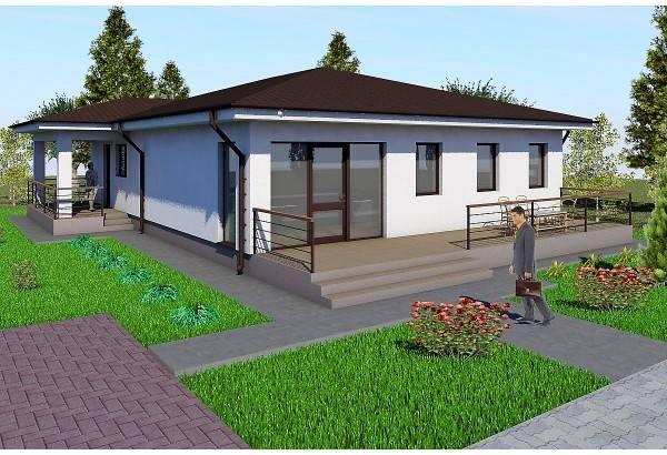 Proiect casa pe structura metalica 174-012