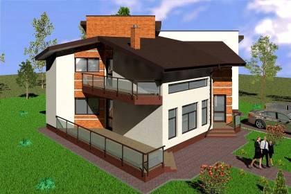 Proiect casa pe structura metalica 336-015