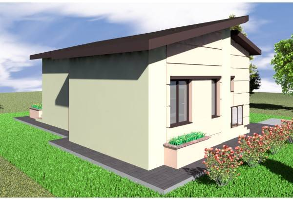Proiect casa pe structura metalica 088-019