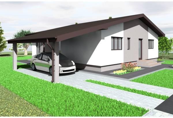 Proiect casa pe structura metalica 178-018