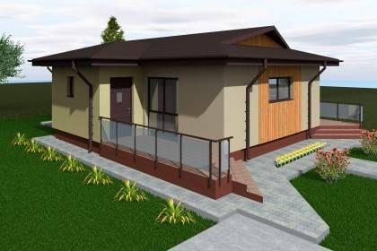 Proiect casa pe structura metalica 112-021