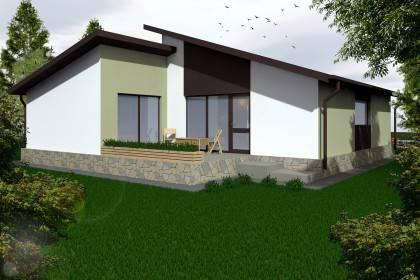 Proiect casa pe structura metalica 131-020