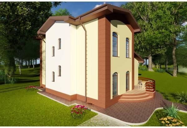 Proiect casa pe structura metalica 148-022