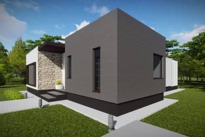 Proiect casa pe structura metalica 131-024