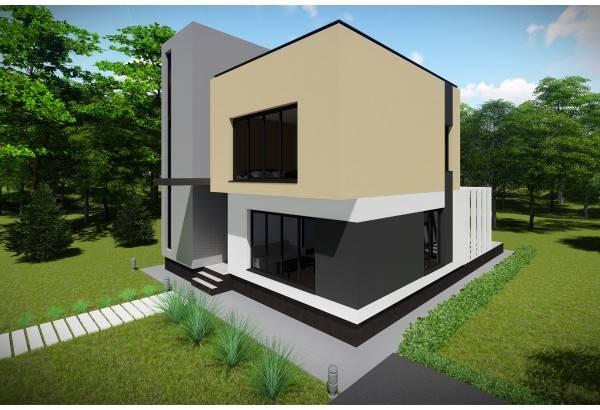 Proiect casa pe structura metalica 248-025