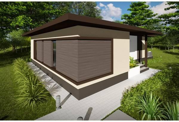 Proiect casa pe structura metalica 120-032