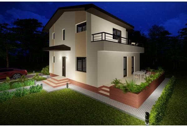 Proiect casa pe structura metalica 176-030