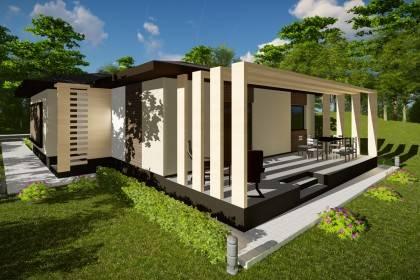 Proiect casa pe structura metalica 134-031