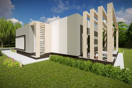Proiect casa pe structura metalica 134-029