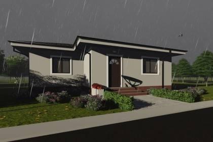 Proiect casa pe structura metalica 075-033